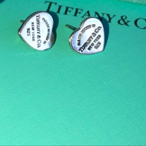 Tiffany's mini heart tag earrings